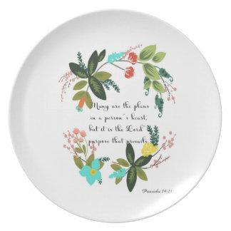 Christian inspirational Art - Proverbs 19:21 Plate