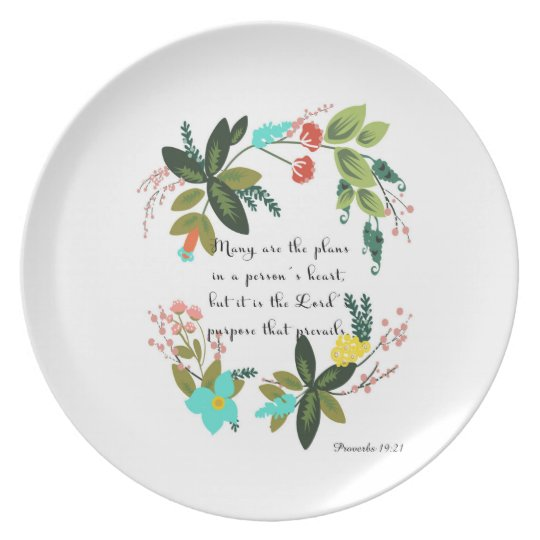 Christian inspirational Art - Proverbs 19:21 Plate