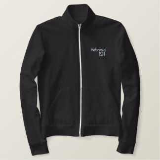 Christian jacket: Run the Race Embroidered Jacket