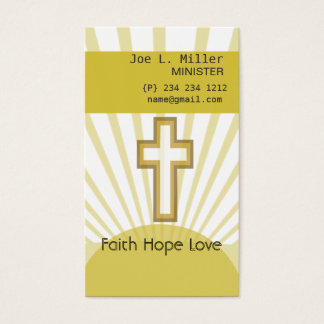 Christian Jesus Church  Cross Business Card