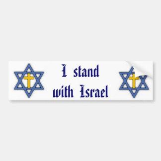Christian Jewish Support for Israel Bumper Sticker