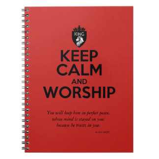 Christian KEEP CALM AND WORSHIP Devotional Note Books