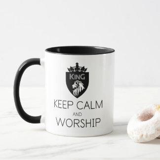 Christian KEEP CALM AND WORSHIP Double Sided Mug