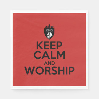 Christian KEEP CALM AND WORSHIP Napkins Disposable Napkin
