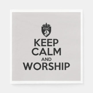 Christian KEEP CALM AND WORSHIP Napkins Paper Napkins
