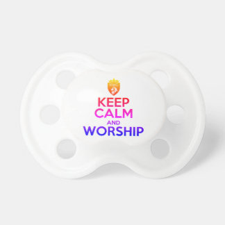 Christian KEEP CALM AND WORSHIP Pacifier