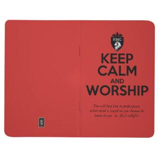 Christian KEEP CALM AND WORSHIP Prayer Journals