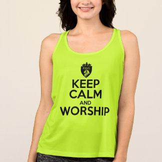 Christian KEEP CALM AND WORSHIP Tank Top