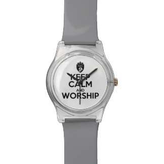 Christian KEEP CALM AND WORSHIP Watch