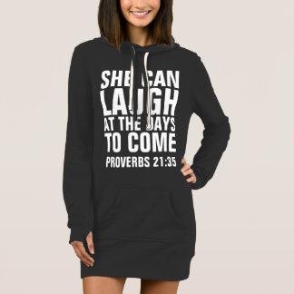 Christian Ladies Womens T-shirts, SHE CAN LAUGH Dress