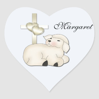 Christian Lamb Cross Sticker