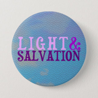 Christian LIGHT AND SALVATION 3 Inch Round Button