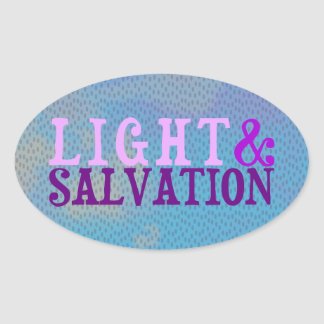Christian LIGHT AND SALVATION Oval Sticker