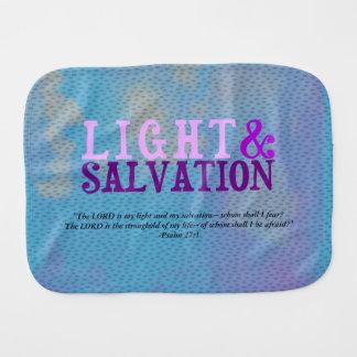 Christian LIGHT AND SALVATION w/Scripture Baby Burp Cloths