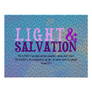 Christian LIGHT AND SALVATION w/Scripture Poster