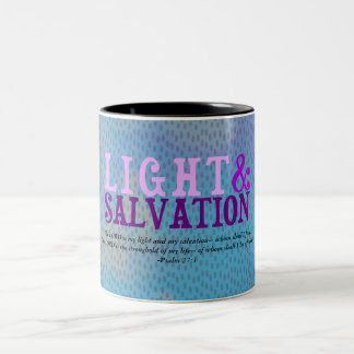 Christian LIGHT AND SALVATION w/Scripture Two-Tone Coffee Mug