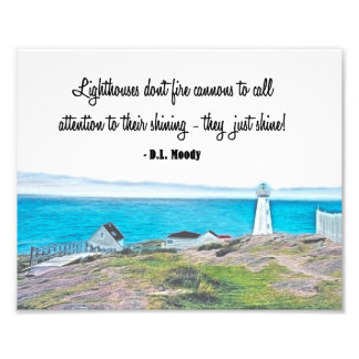 Christian Lighthouses Don't Fire Cannons Wall Art Photographic Print