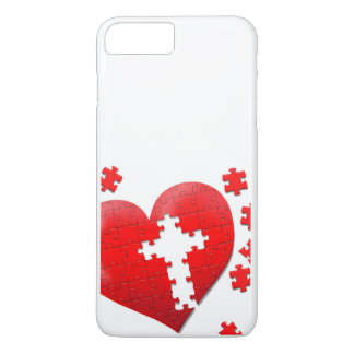 Christian love heart jigsaw puzzle iPhone 7 plus case