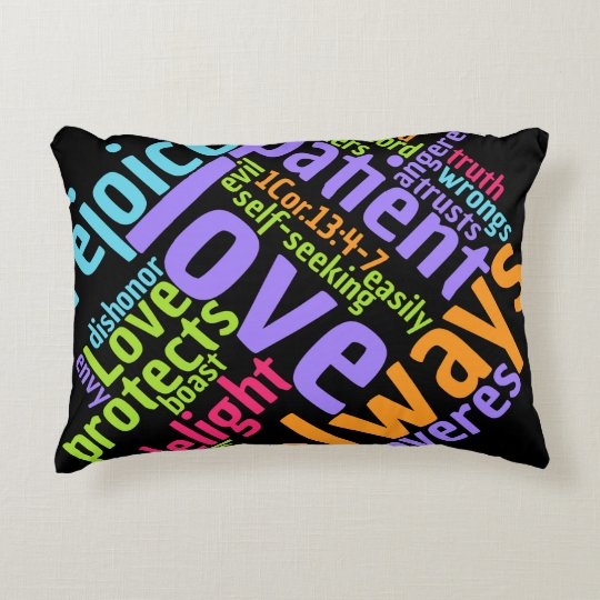 Christian LOVE IS PATIENT/GOD IS LOVE Pillow