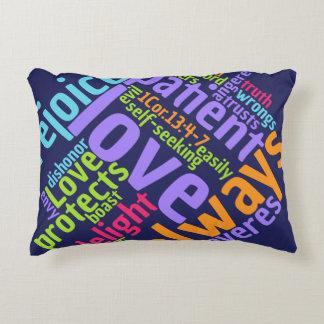Christian LOVE IS PATIENT Reversible Prayer Accent Pillow