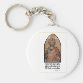 Christian Matthew 6:34 Verse Quote ~ Don't Worry Keychain