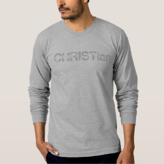 CHRISTian-mens long sleeve-grey T-Shirt