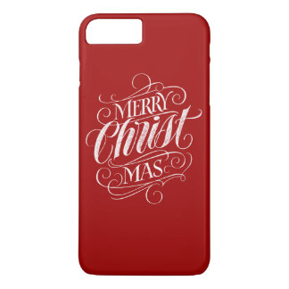 Christian Merry Christmas Chalkboard Calligraphy iPhone 8 Plus/7 Plus Case