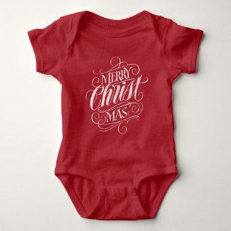 Christian Merry Christmas Chalkboard Lettering Baby Bodysuit