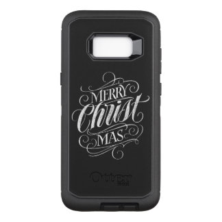 Christian Merry Christmas Chalkboard Lettering OtterBox Defender Samsung Galaxy S8+ Case