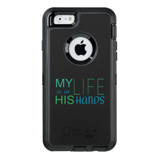 Christian MY LIFE IS IN HIS HANDS OtterBox Defender iPhone Case