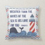 Christian Nautical Boy's Throw Pillow