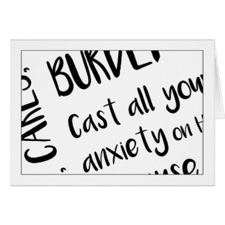 Christian>Note Card>Cast All Your Anxiety On God Card