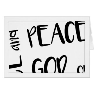 Christian>Note Card>Grace And Peace To You Card