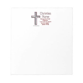 Christian Nurse Cross 2 Notepad