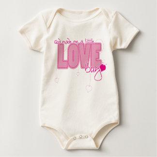 Christian Organic baby vest - Little Love Bug Baby Bodysuit