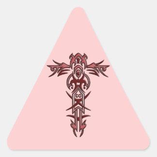 Christian Ornate Cross 3 Triangle Sticker