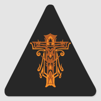 Christian Ornate Cross 65 Stickers