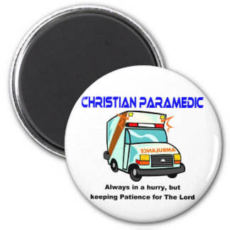 Christian Paramedic religious gift 2 Inch Round Magnet