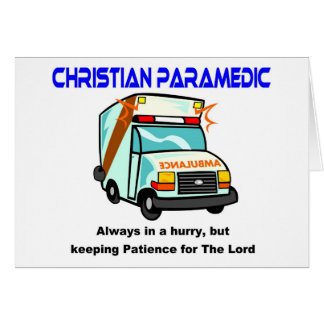 Christian Paramedic religious gift Card
