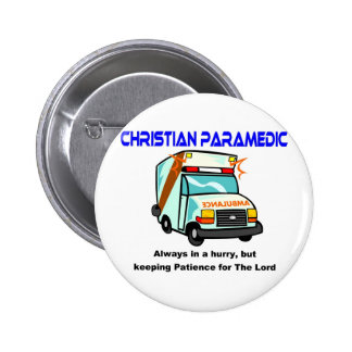 Christian Paramedic religious gift Pin