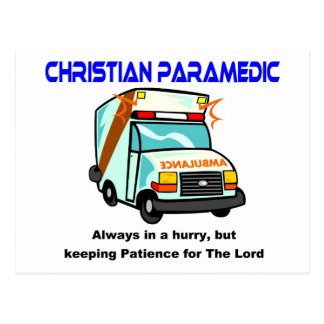 Christian Paramedic religious gift Postcard