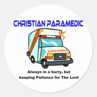 Christian Paramedic religious gift Round Sticker