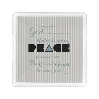 Christian Peace of God Acrylic Tray