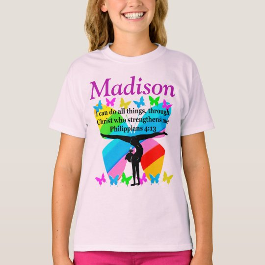 CHRISTIAN PERSONALIZED GYMNASTICS T SHIRT