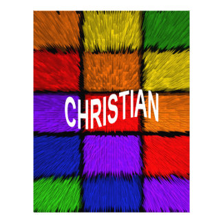 CHRISTIAN PERSONALIZED LETTERHEAD