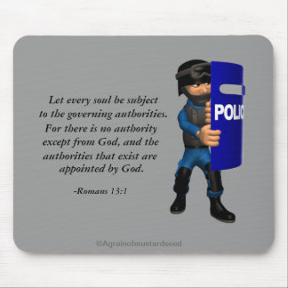 Christian Police Mouse Pad
