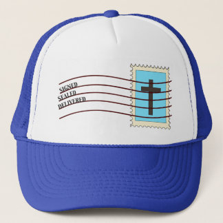 Christian Postage Stamp Hat