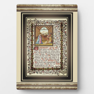 Christian Prayer With Nativity Plaque