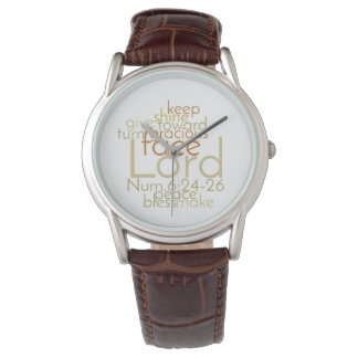 Christian Priestly Blessing Men's Leather Watch