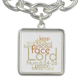 Christian Priestly Blessing Word Art Charm Bracelet
